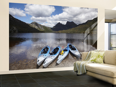 Kayaks, Cradle Mountain and Dove Lake, Lake St Clair National Park, Western Tasmania, Australia
