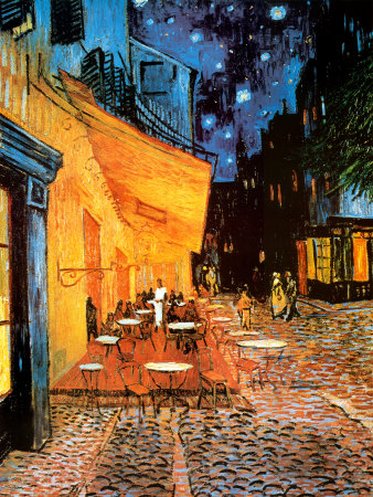 The Café Terrace on the Place du Forum, Arles, at Night, c.1888 Art Art Print