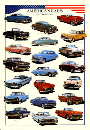 Buy Cars American Cars of Fifties at AllPosters.com