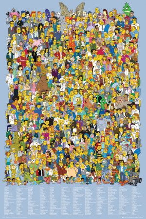 Simpsons-Cast Names Television Poster
