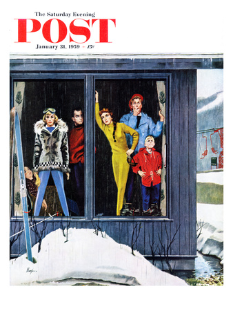 """Rain and Melting Snow"" Saturday Evening Post Cover, January 31, 1959"