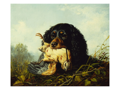 A Cocker Spaniel with a Woodcock Giclee Print