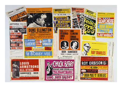 Collection of 1960's Odeon Concert Hall Bills, Including the Beach Boys, Duke Ellington, Ella? - Buy this giclee print at AllPosters.com