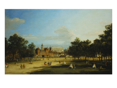 London: the Old Horse Guards and the Banqueting Hall, Whitehall, from St. James's Park, with…