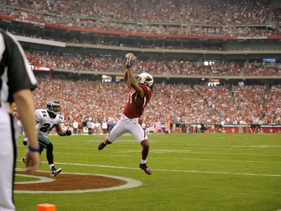NFC Championship Football: Glendale, ARIZONA - Larry Fitzgerald