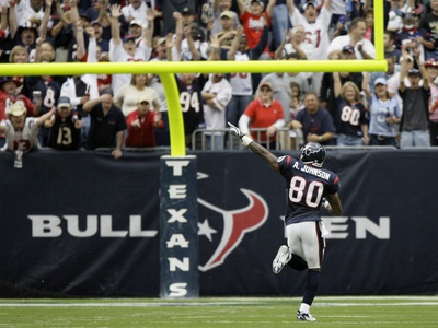 Saints Texans Football: Houston, TEXAS - Andre Johnson