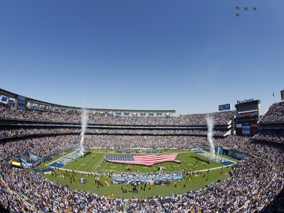 Ravens Chargers Football: San Diego, CALIFORNIA - Qualcomm Stadium