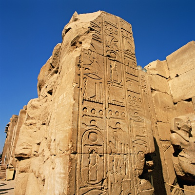 Hieroglyphics at Temple of Karnak