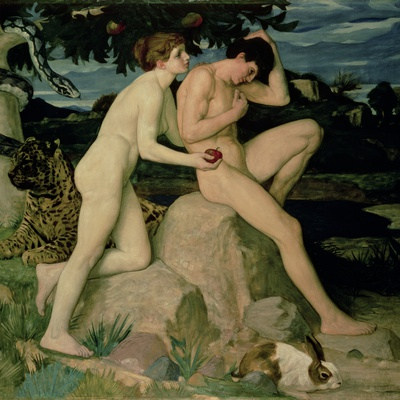 Adam and Eve, William Strang
