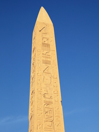 Obelisk at karnak temple