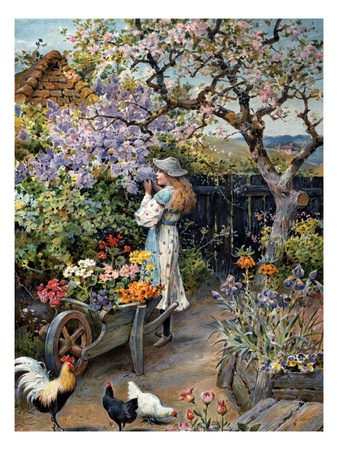 An English Cottage Garden,William  Stephen Coleman