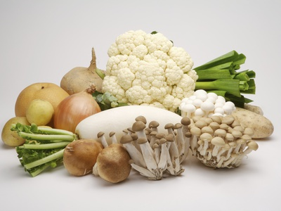 Stack of fresh vegetables