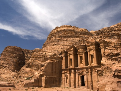 Nabatean tombs of Petra in Jordan