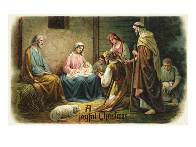 Buy A Joyful Christmas with Nativity Scene at AllPosters.com