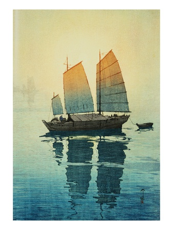 Morning, from a Set of Six Prints of Sailing Boats