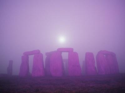Moon Setting Over Stonehenge