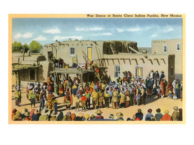 Santa Clara War Dance, New Mexico Premium Poster