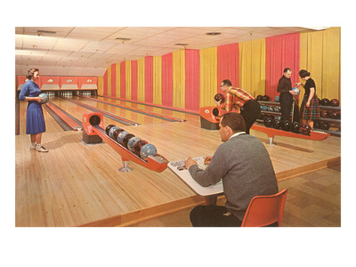 Interior, Bowling Alley, Retro