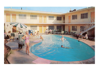 Apartment Complex Pool, Retro