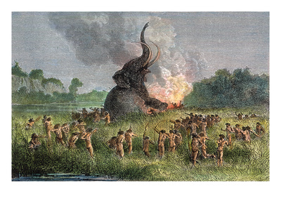 Prehistoric Mammoth Hunt