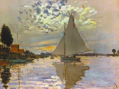 Monet: Sailboat Premium Giclee Print