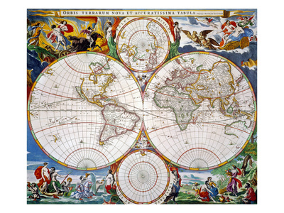 World Map, 17Th Century