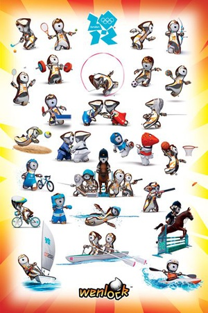 London 2012 Olympics (Wenlock Sport Poses) Posters
