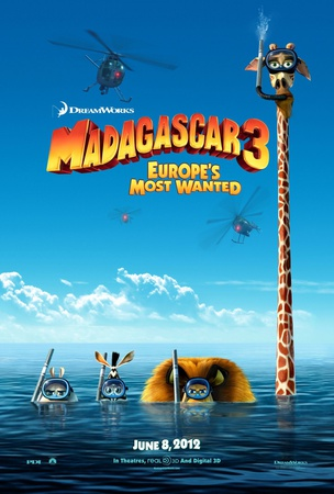 Madagascar 3 Double-sided poster