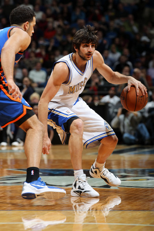 New York Knicks v Minneapolis Timberwolves, Minneapolis, MN, Feb 11: Ricky Rubio, Landry Fields