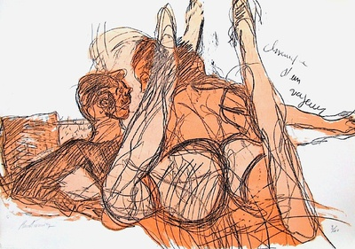 lovers erotic art
