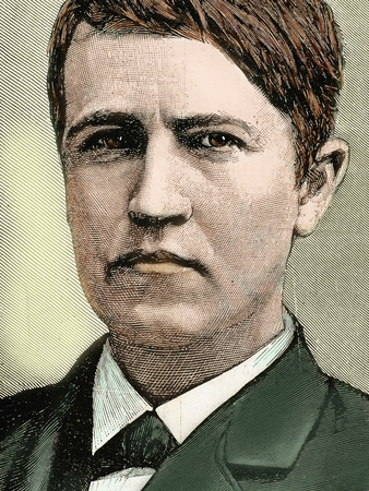Thomas Alva Edison (1847-1931). American Inventor
