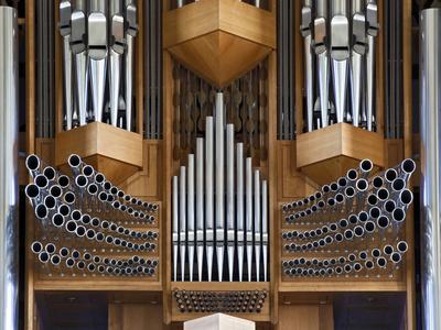 Pipe Organ, Hallgrimskirkja, Main Lutheran Church, Reykjavik, Iceland
