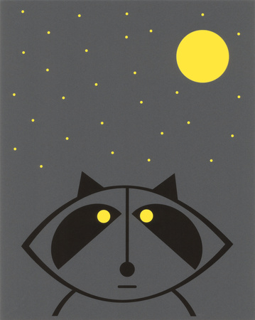 Raccoon (Glow in the Dark) Posters