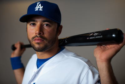 Glendale, AZ - March 2: Los Angeles Dodgers Photo Day - A.J. Ellis