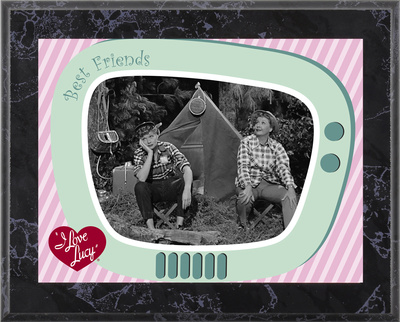 I Love Lucy - Camping plaque,