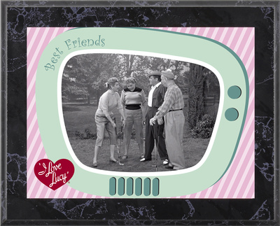 I Love Lucy - The Golf Game plaque
