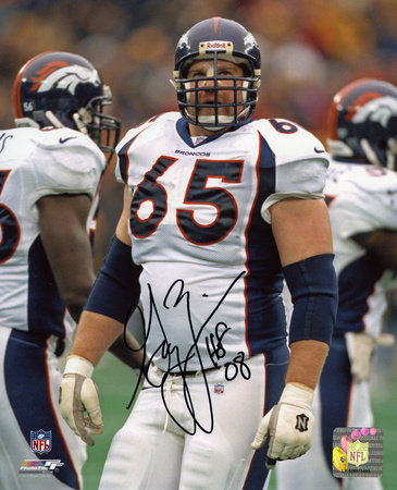 Gary Zimmerman Denver Broncos with HOF 08 Inscription Autographed Photo (Hand Signed Collectable)