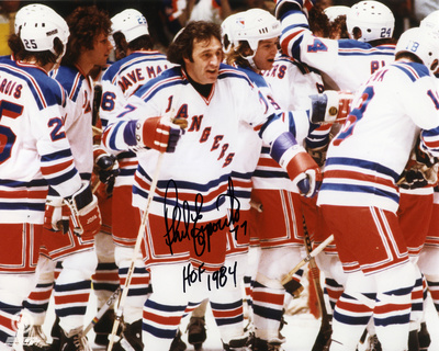 "Phil Esposito New York Rangers with ""HOF 1984""  Autographed Photo (Hand Signed Collectable)"