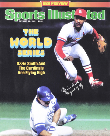 Ozzie Smith St. Louis Cardinals - Sports Illustrated Cover with Wizard of Oz Inscription