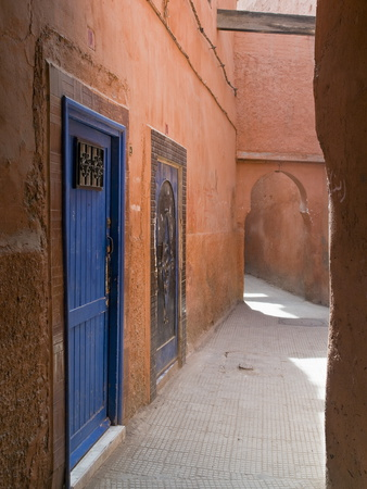 Street in the Souk in the Medina, UNESCO World Heritage Site, Marrakech, Morocco, North Africa