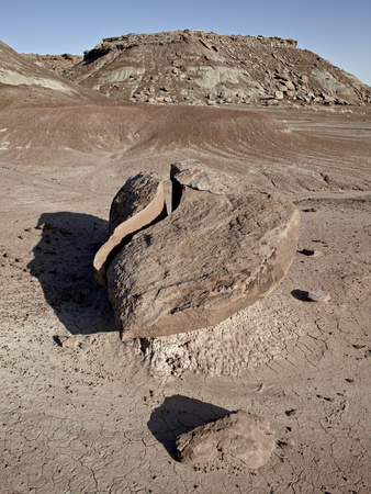 Boulder That Looks Like a Broken Heart Among the Badlands, Petrified Forest National Park, Arizona