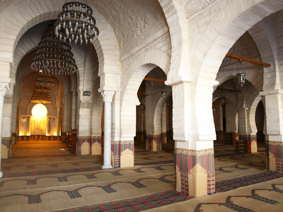 Prayer Hall of the Great Mosque, Medina, Sousse, Tunisia, North Africa, Africa