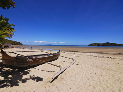 The Beach of the Touristy Ambatoloaka, Nosy Be, Madagascar, Indian Ocean, Africa