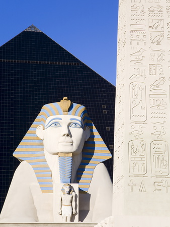 Sphinx and Obelisk Outside the Luxor Casino, Las Vegas, Nevada, USA
