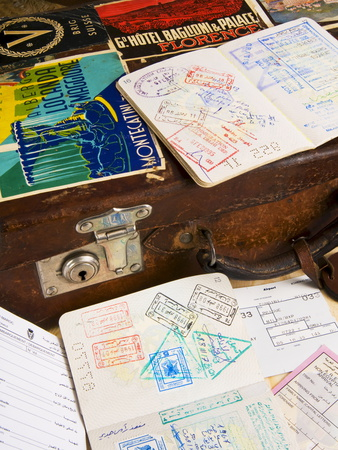 Passport, Boarding Pass, Travel Documents and Luggage