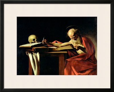 St. Jerome Writing, circa 1604 Framed Giclee Print