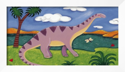 Dippy the Diplodocus Framed Giclee Print