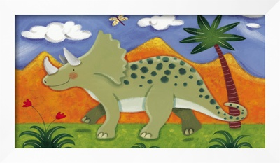 Timmy the Triceratops Framed Giclee Print