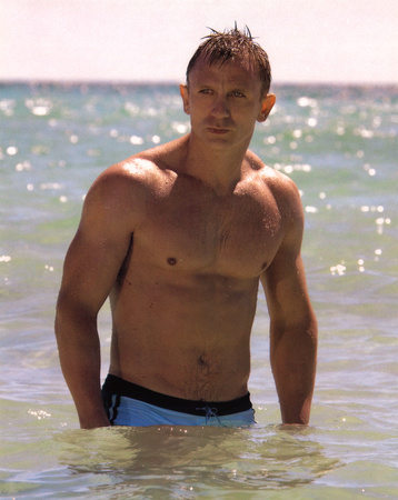 Daniel Craig In Water, James Bond, Movie Photo Print Poster