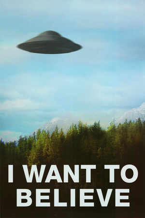 The X-Files I Want To Believe TV Poster Print Television Poster